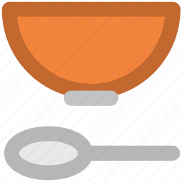 bowl, caffe latte, cereal, kitchen utensils, soup, spoon, spoon and bowl icon