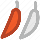 chili, green chili, paprika, pepper, spice icon
