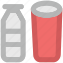 drink, glass, glass and bottle, juice, juice bottle, milk bottle icon
