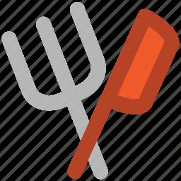 cutlery, flatware, fork, fork and knife, knife, restaurant, utensil icon