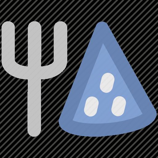 fork, fork and pizza, italian pizza, pizza, pizza slice, restaurant icon