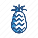 ananas, food, fruit, pineapple icon
