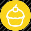 .svg, birthday, cake, dessert, food, muffin, sweet