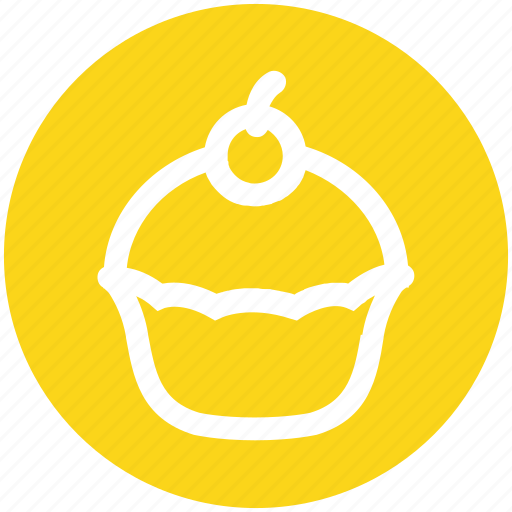 .svg, birthday, cake, dessert, food, muffin, sweet icon