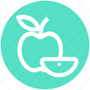 eating, apple, food, energy, apple slice, fruit, .svg icon