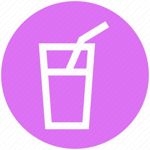 .svg, drink, glass, juice, straw, water, water glass icon