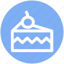.svg, cake, cake piece, cake slice, cherry, food, slice icon