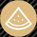 piece, tropical, fruit, watermelon, fruit slice, .svg, seeds icon