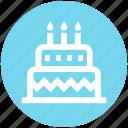 birthday cake, wedding cake, food, .svg, cake, celebration icon