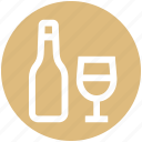 .svg, alcohol, bottle, bottle and glass, drinking, glass, wine