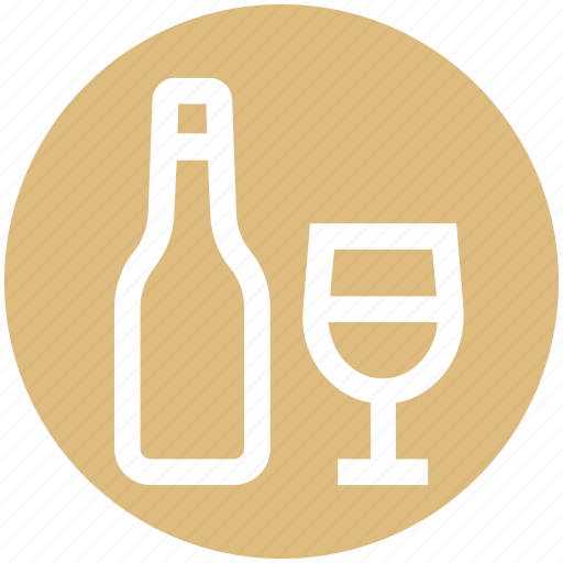 .svg, alcohol, bottle, bottle and glass, drinking, glass, wine icon