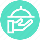 serving, restaurant, food, hand, waiter, .svg, platter icon