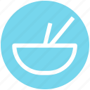 .svg, bowl, bowl and sticks, eat, food, soup, sticks icon