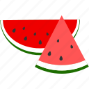 fresh, fruit, sweet, tropical, watermelon