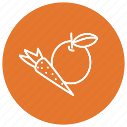 apple, carrot, food, fruit, vegetables icon