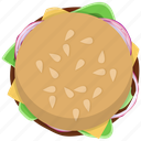 burger, cheeseburger, fast food, fastfood, hamburger, junk, meal icon