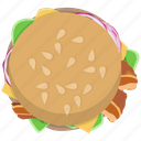 bacon, burger, chickenburger, fast food, fastfood, hamburger, meal icon