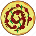 cooking, fast food, fastfood, meal, pizza, salami icon