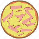 cooking, fast food, fastfood, ham, meal, pizza icon