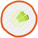 cooking, cucumber, food, fresh, meal, seafood, sushi icon