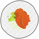 cooking, eating, fish, food, meal, sushi icon