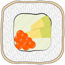 avocado, caviar, cooking, food, meal, sushi icon