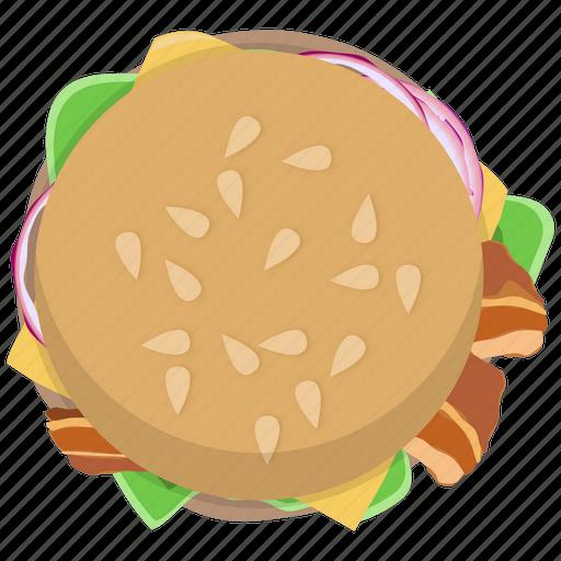 bacon, burger, chickenburger, fast food, fastfood, hamburger, meal icon