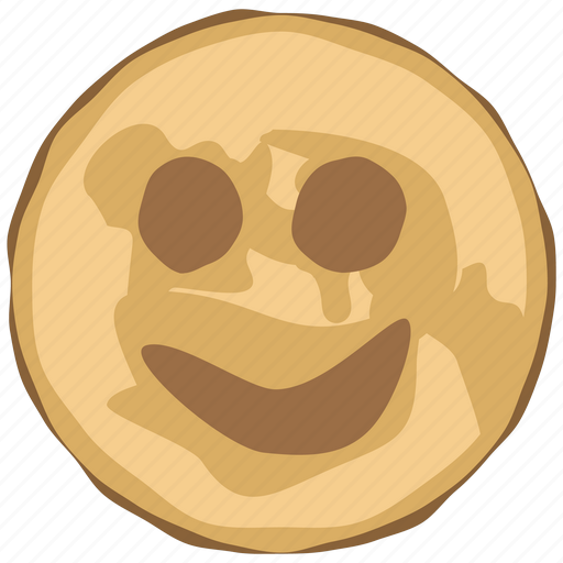 breakfast, emoticons, face, happy, meal, pancake, smile icon