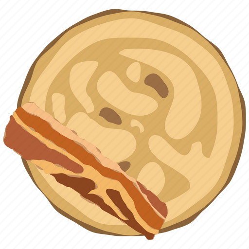 bacon, breakfast, cooking, food, hot, meal, pancake icon