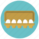 breakfast, egg, egg packing, eggs, food, hen, tray icon