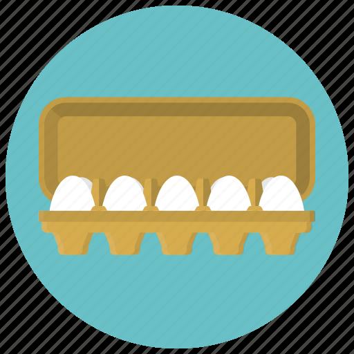 breakfast, egg, egg packing, eggs, food, hen, tray icon