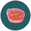 beef, food, meat, salmon steak, steak icon