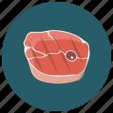 beef, food, meat, salmon steak, steak icon