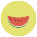 food, fruit, seeds, slice, tropical, watermelon icon