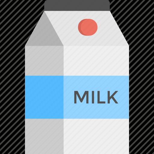beverage, dairy food, milk pack, milk package, tetra brik icon