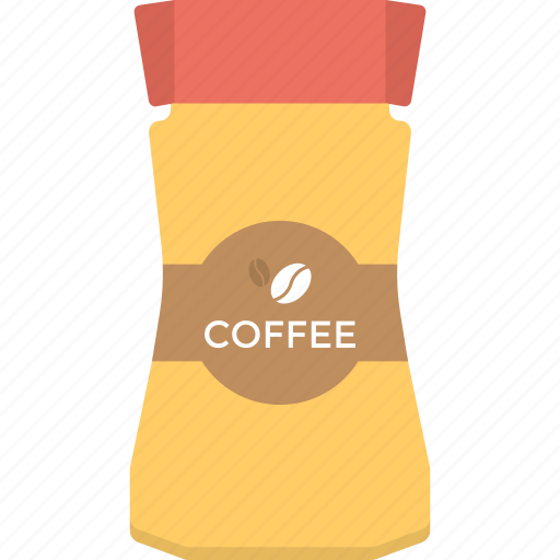 Coffee beans, instant coffee, organic food, caffeine, beverage icon