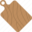 chopping board, cutting board, domestic equipment, kitchenware, utensils icon