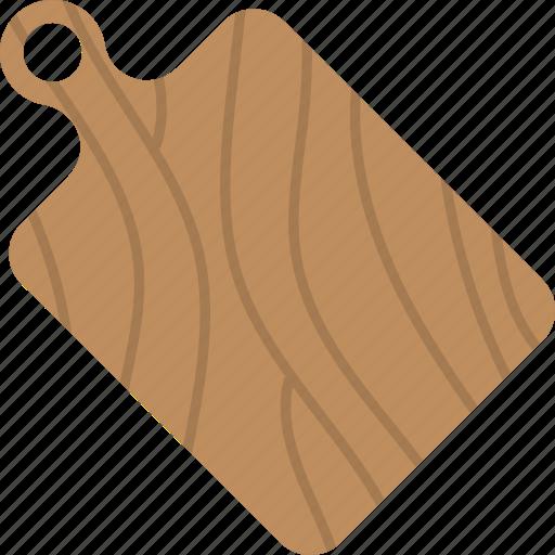 Cutting board, chopping board, kitchenware, domestic equipment, utensils icon