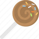 candy stick, confectionery, snack, sweet, swirling lollipop icon