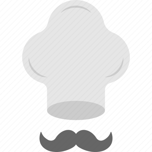 cartoon character, chef hipster, cook logo, geek chef, hat and mustache icon
