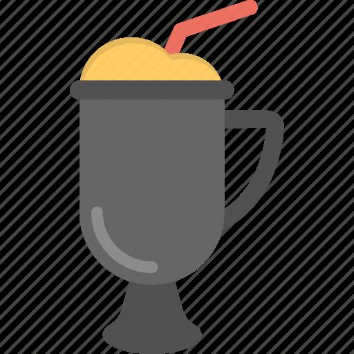 beverage, cold drink, frozen cocktail, fruit slushie, summer drink icon