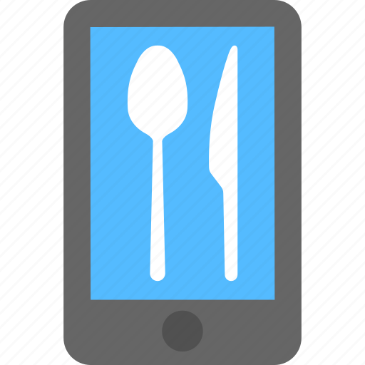 food ordering, food service, internet recipe, mobile app interface, mobile food delivery icon