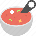 foodstuff, hot soup, soup bowl, spicy meal, spicy sauce icon