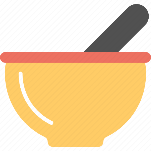 grinding tool, kitchen accessories, kitchenware, mashing equipment, mortar and pestle icon