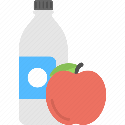 healthy diet, natural food, nutritious food, organic fruit, water and apple icon