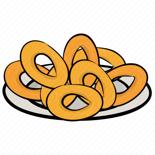 fast food, fried onions, junk food, onion rings, snacks icon