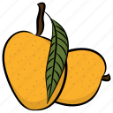 fruit, healthy diet, mango, ripe mango, yellow fruit icon
