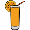 fruit punch, juice, orange juice, orange nectar, smoothie icon