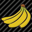 bananas, bunch of bananas, food, fruit, healthy diet icon