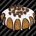 bakery, cake dipping, cream cake, dessert, fresh cream cake